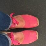 knackered pink espadrilles