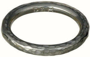 dower & hall 3mm round hammered band - Version 2