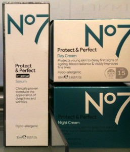 No. 7 Protect & Perfect face creams and serum