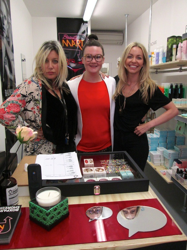 Millie, Lisa and Claire at BeautyMART Boxpark