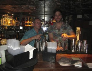Dick Bradsell and Fergus at Dick's Bar El Camion
