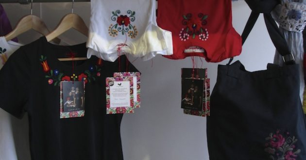 Hungarian pop-up shop scarves and tops