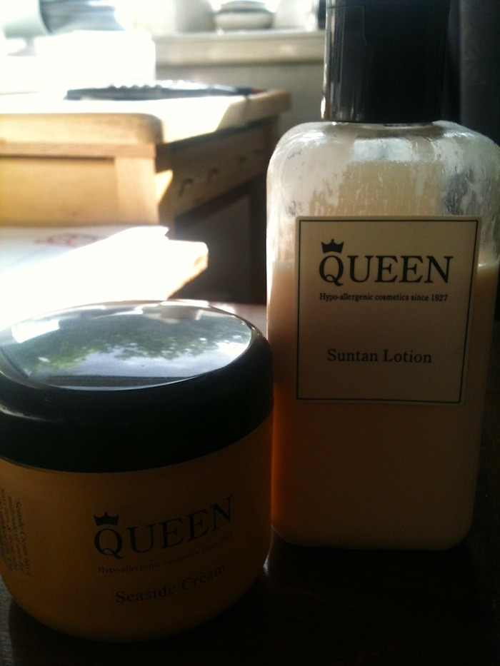 Queen Cosmetics Suntan Lotion and Seaside cream