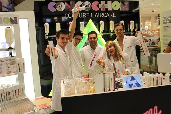 Concoction team at Selfridges pop-up shop