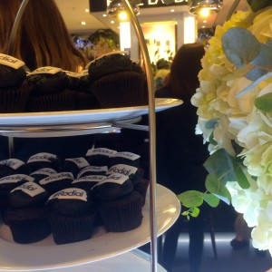 Cakes and flowers at Rodial launch