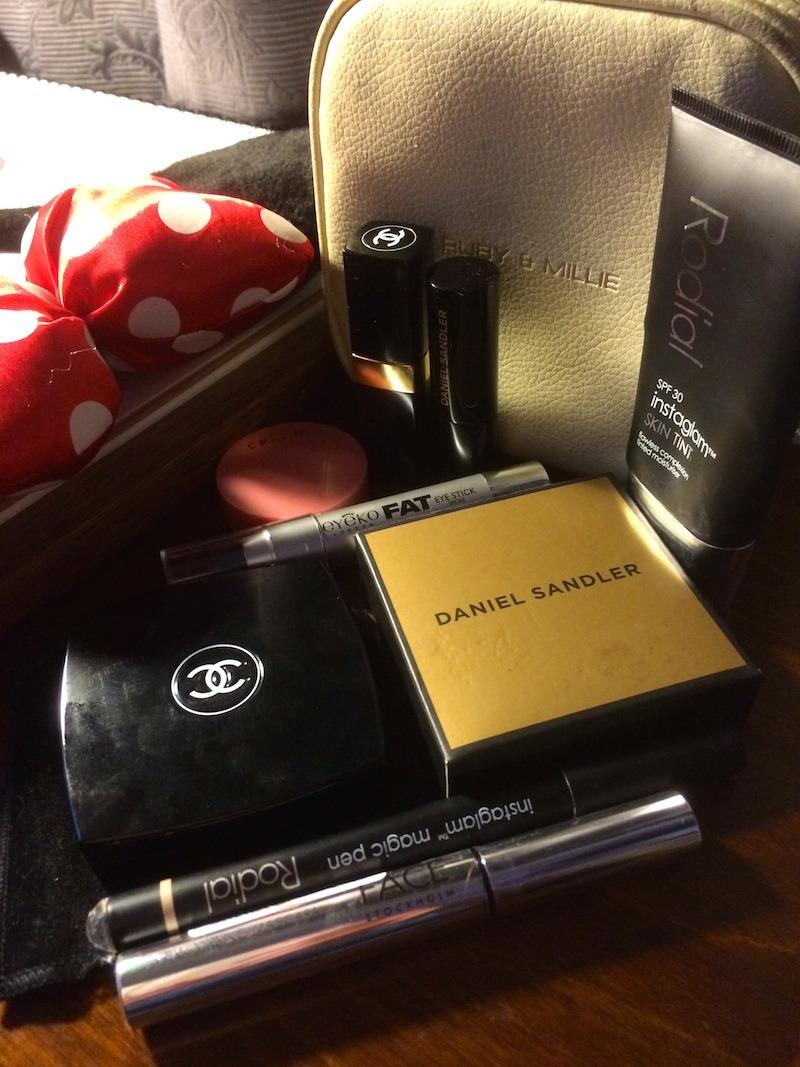 Make up essentials for a few days away