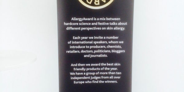 AllergyAward16 display board