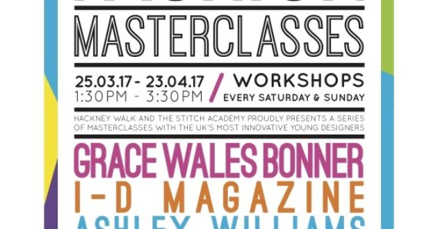 Stitch Academy Hackney Fashion Masterclasses