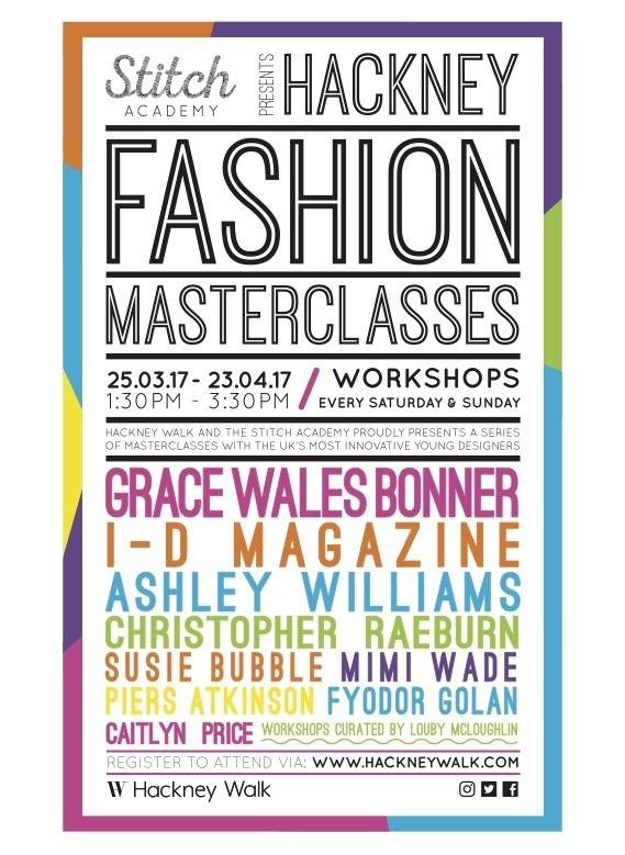 Stitch Academy Hackney Fashion Masterclasses