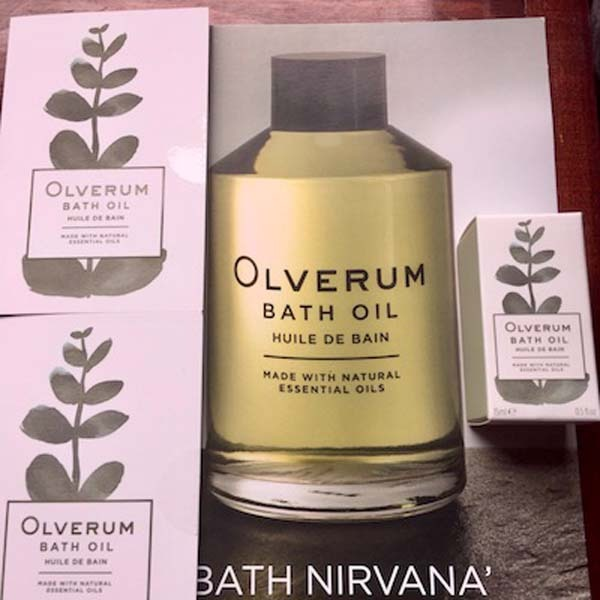 Olverum Bath Oil samples