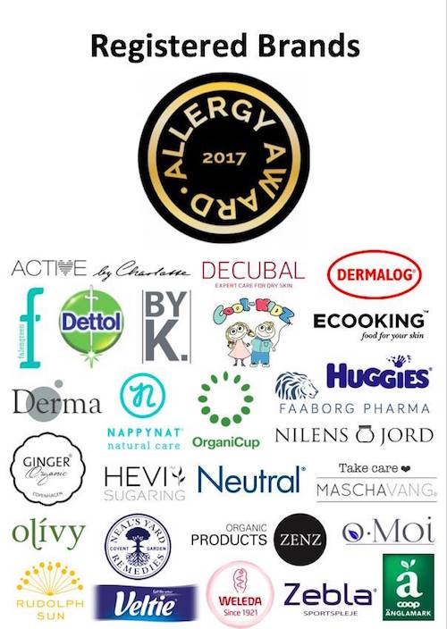 AllergyAward17 registered brands