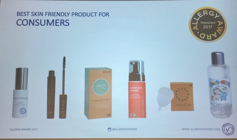 AllergyAward 2017 Best Skin Friendly Product for Consumers